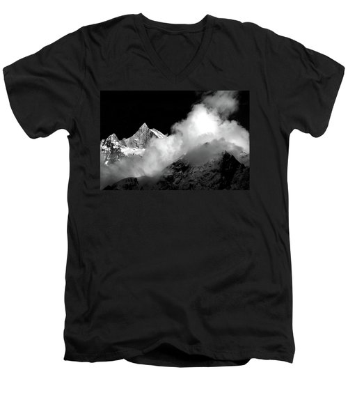Himalayan Mountain Peak Men's V-Neck T-Shirt