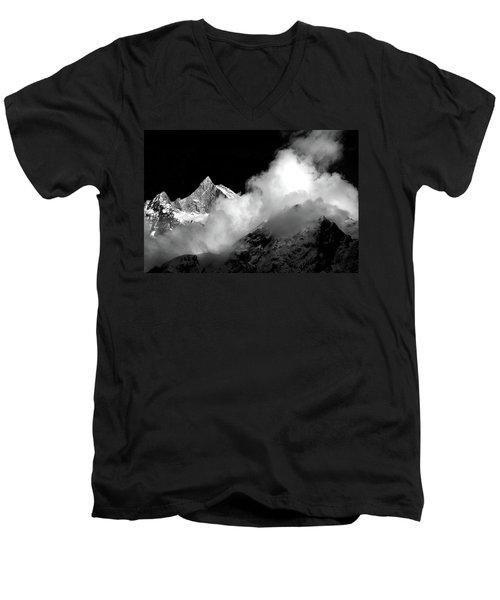 Himalayan Mountain Peak Men's V-Neck T-Shirt