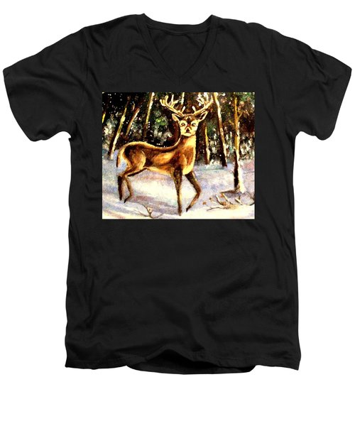 Hinds Feet Men's V-Neck T-Shirt by Hazel Holland