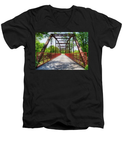 Hinkson Creek Bridge Men's V-Neck T-Shirt