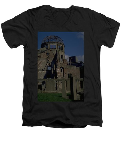 Hiroshima Peace Memorial Men's V-Neck T-Shirt