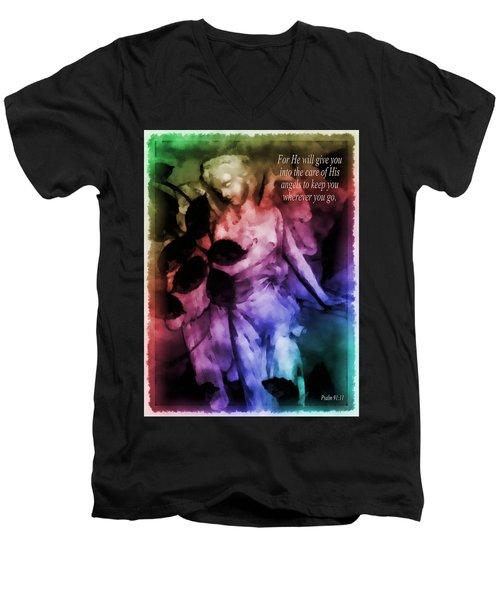 His Angels 2 Men's V-Neck T-Shirt