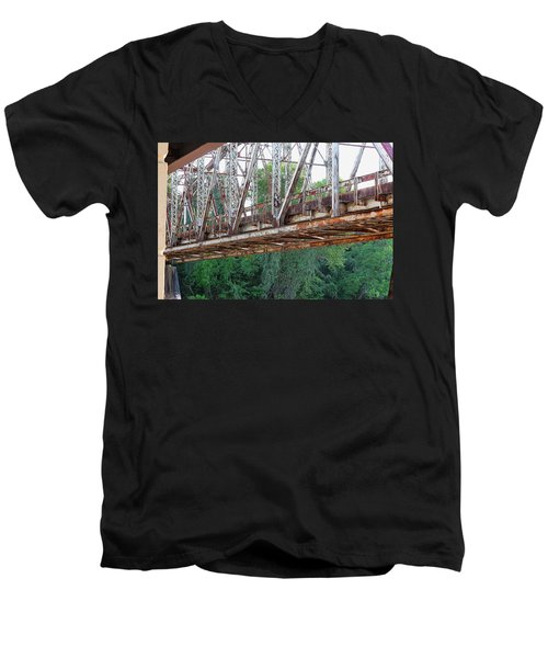 Historic Brazoria Bridge Men's V-Neck T-Shirt