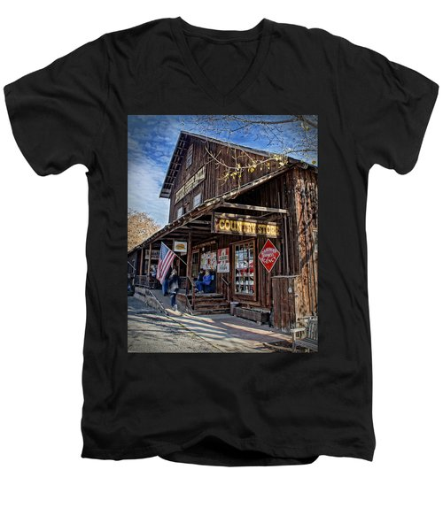 Historic Butte Creek Mill Men's V-Neck T-Shirt by Mick Anderson