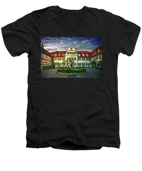 Historic Jestadt Castle Men's V-Neck T-Shirt
