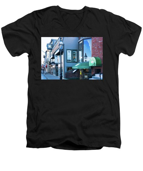 Historic Newport Buildings Men's V-Neck T-Shirt by Nancy De Flon