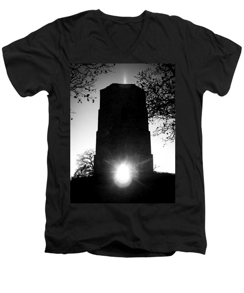 Historical Water Tower At Sunset Men's V-Neck T-Shirt