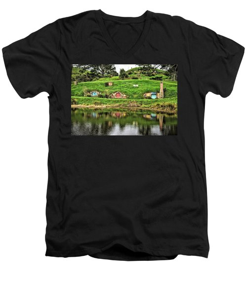 Hobbit By The Lake Men's V-Neck T-Shirt