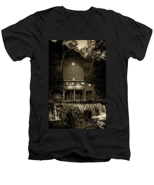 Hodgson Gristmill Men's V-Neck T-Shirt by Robert Frederick