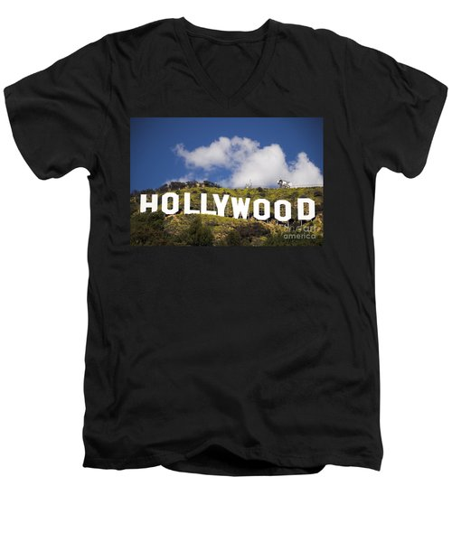 Hollywood Sign Men's V-Neck T-Shirt