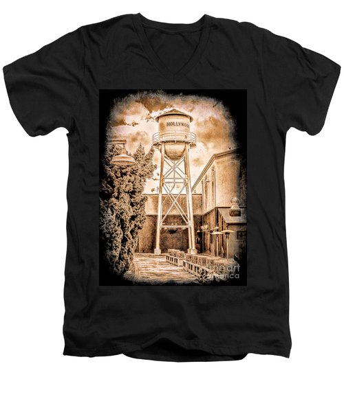 Hollywood Water Tower Men's V-Neck T-Shirt