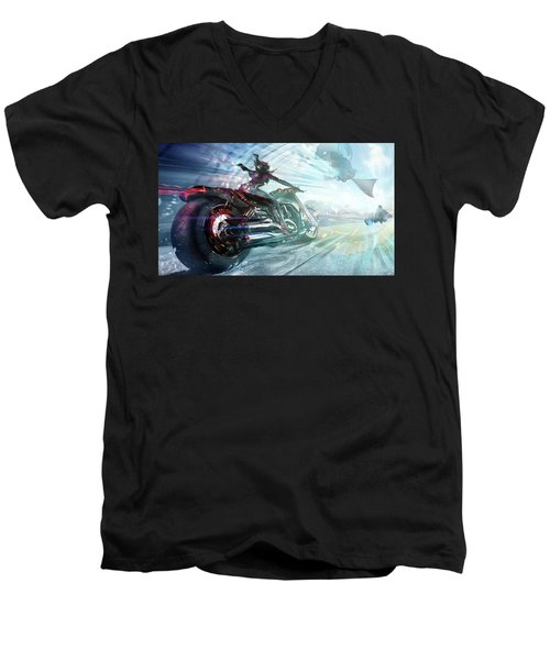 Holy Crap That Is Fast. Men's V-Neck T-Shirt