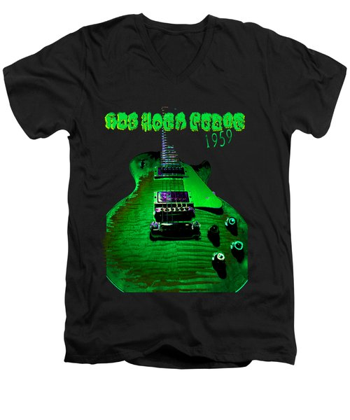 Men's V-Neck T-Shirt featuring the photograph Holy Grail 1959 Retro Relic Guitar by Guitar Wacky