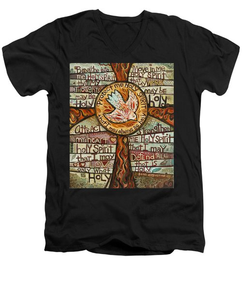 Holy Spirit Prayer By St. Augustine Men's V-Neck T-Shirt