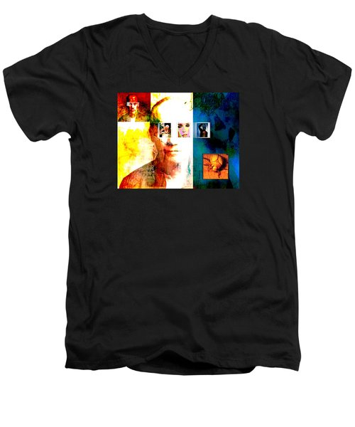 Homage To Richard Prince Men's V-Neck T-Shirt by Ann Tracy