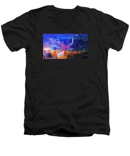 Men's V-Neck T-Shirt featuring the photograph Home For The Holidays by Mike Breau