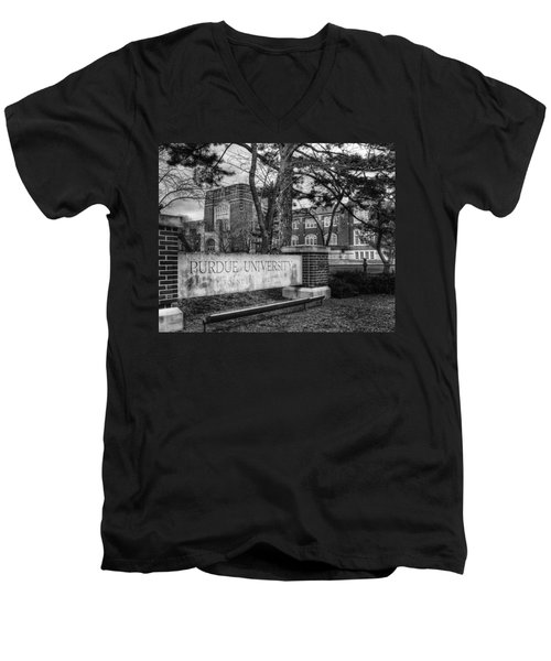 Men's V-Neck T-Shirt featuring the photograph Home Of The Boilers by Coby Cooper