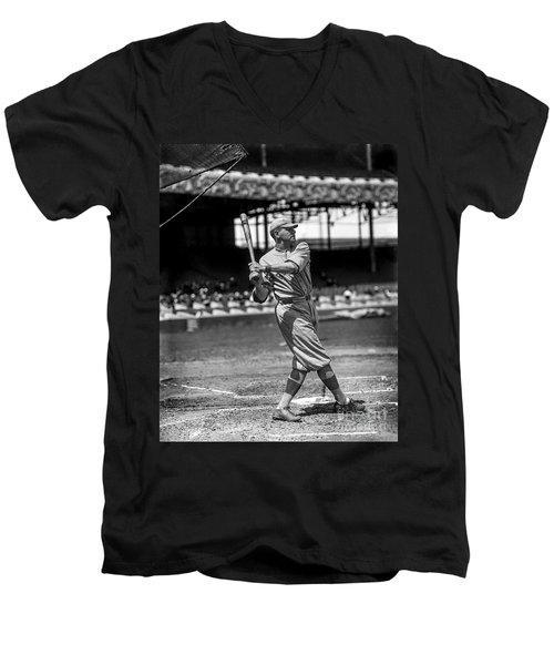 Home Run Babe Ruth Men's V-Neck T-Shirt