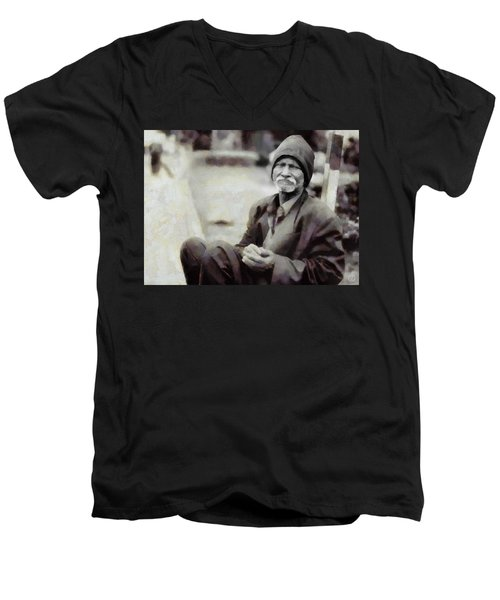 Homeless II Men's V-Neck T-Shirt by Gun Legler