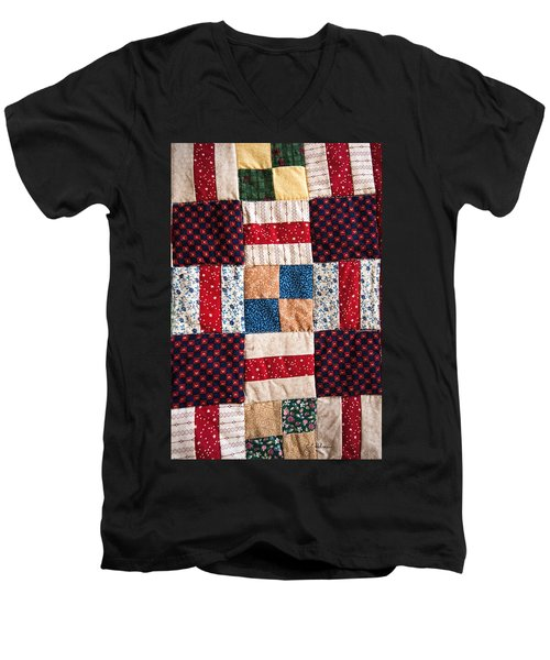 Homemade Quilt Men's V-Neck T-Shirt