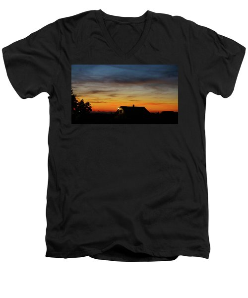 Men's V-Neck T-Shirt featuring the photograph Homestead by Angi Parks