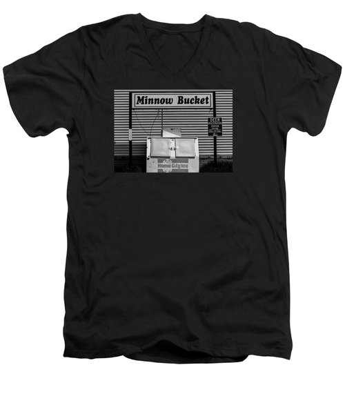 Hometown Ice Men's V-Neck T-Shirt by Michael Nowotny