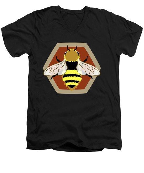 Honey Bee Graphic Men's V-Neck T-Shirt