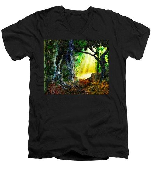 Hope Men's V-Neck T-Shirt by Francesa Miller