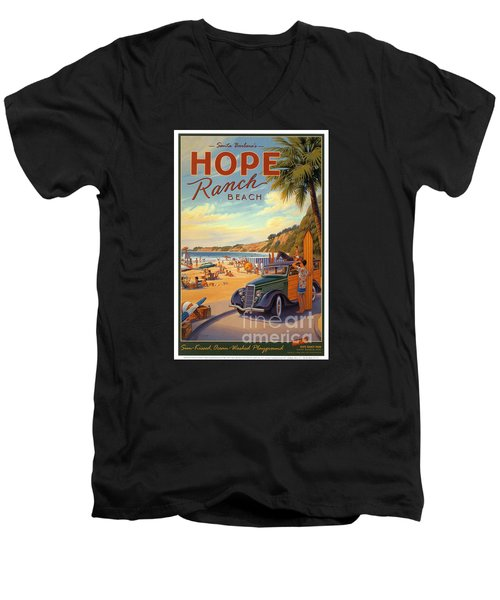Hope Ranch Beach Men's V-Neck T-Shirt