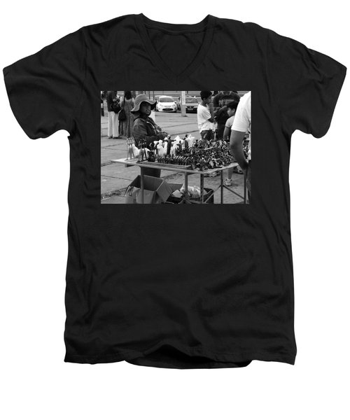 Men's V-Neck T-Shirt featuring the photograph Hopes by Beto Machado