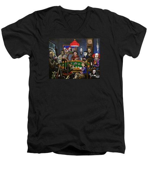 Horror Card Game Men's V-Neck T-Shirt