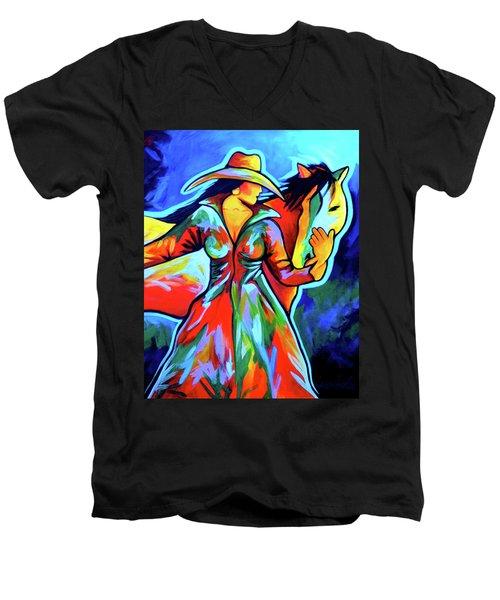 Horse Love Men's V-Neck T-Shirt