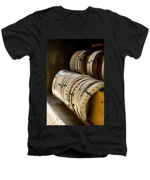 Horse Shoes Men's V-Neck T-Shirt by Angela Rath