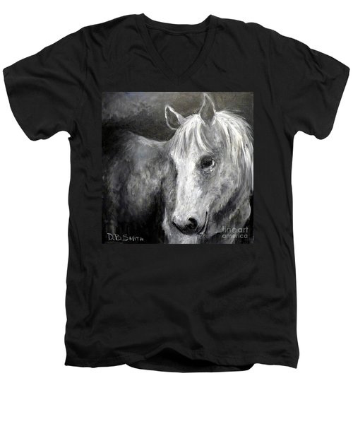 Horse With The Mona Lisa Smile Men's V-Neck T-Shirt