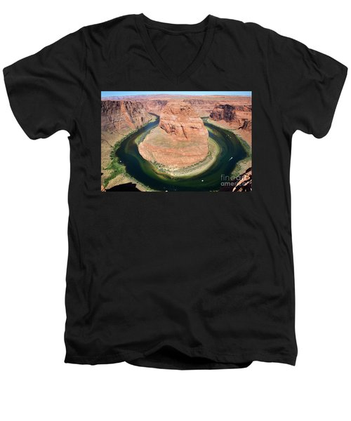 Horseshoe Bend Colorado River Men's V-Neck T-Shirt