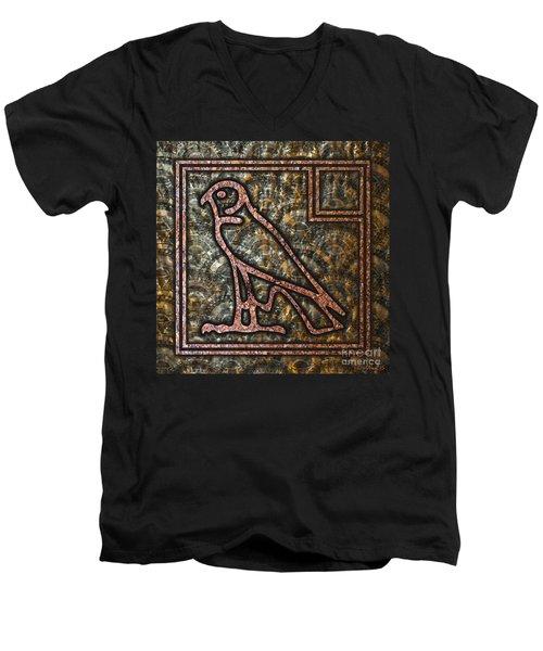 Horus Falcon Men's V-Neck T-Shirt