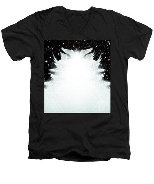 Host Of Angels Men's V-Neck T-Shirt by James Larkin
