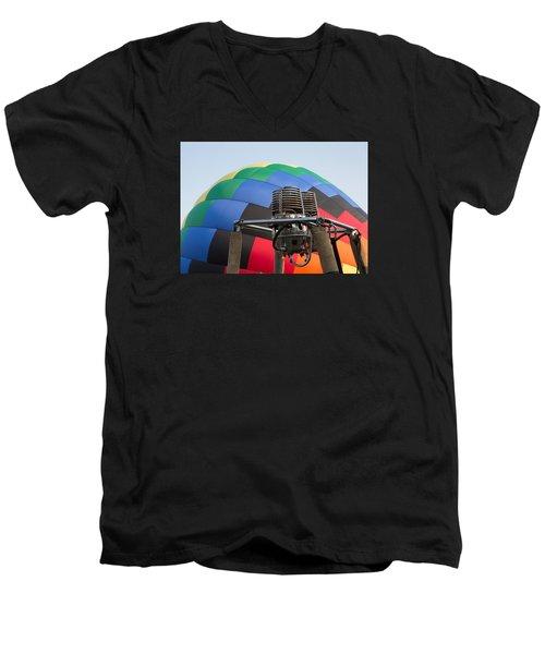 Hot Air Balloning Men's V-Neck T-Shirt