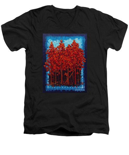 Hot Reds Men's V-Neck T-Shirt