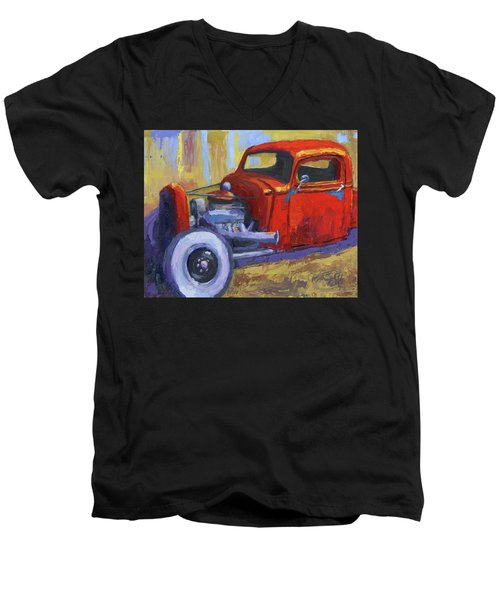 Hot Rod Chevy Truck Men's V-Neck T-Shirt