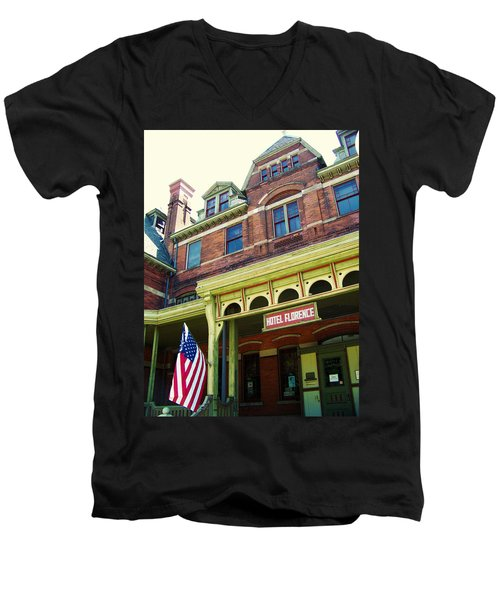 Hotel Florence Pullman National Monument Men's V-Neck T-Shirt