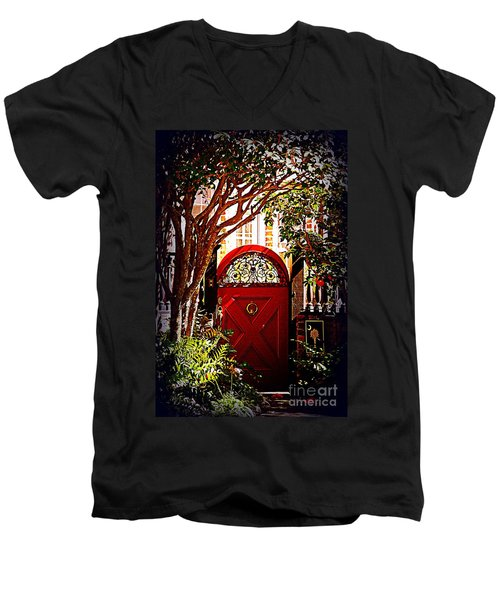 House Door 5 In Charleston Sc  Men's V-Neck T-Shirt