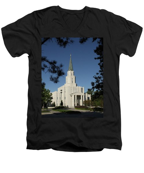 Houston Lds Temple Men's V-Neck T-Shirt