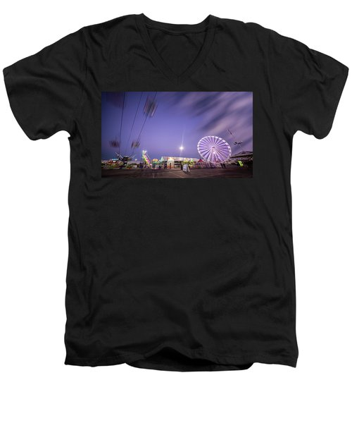 Houston Texas Live Stock Show And Rodeo #13 Men's V-Neck T-Shirt by Micah Goff