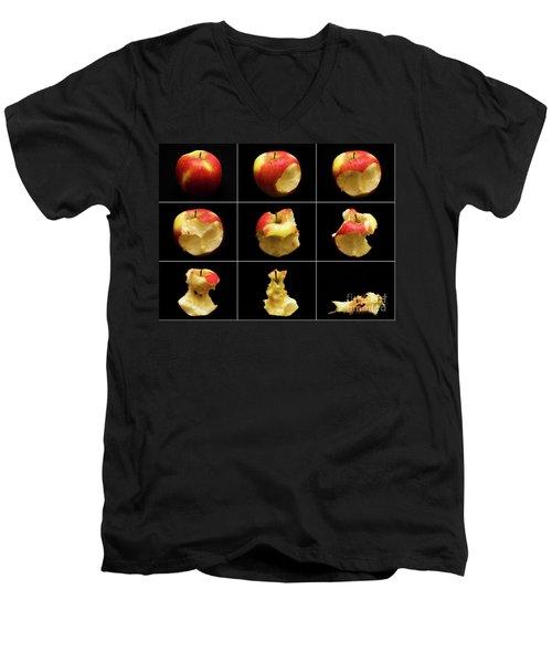 How To Eat An Apple In 9 Easy Steps Men's V-Neck T-Shirt