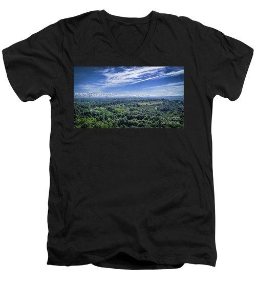 Hudson Valley View Men's V-Neck T-Shirt