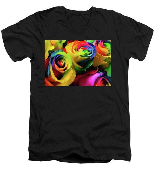 Hue Heaven Men's V-Neck T-Shirt by JAMART Photography