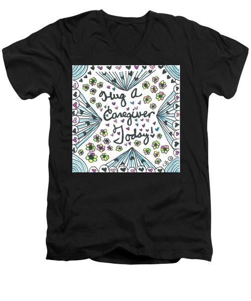 Hug A Caregiver Men's V-Neck T-Shirt