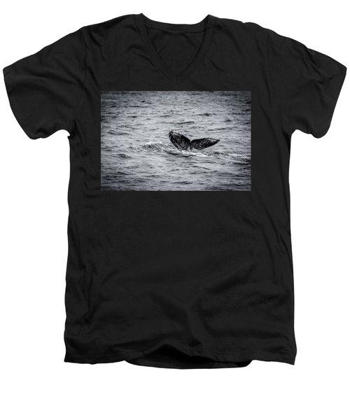 Humpback Whale Tail Men's V-Neck T-Shirt