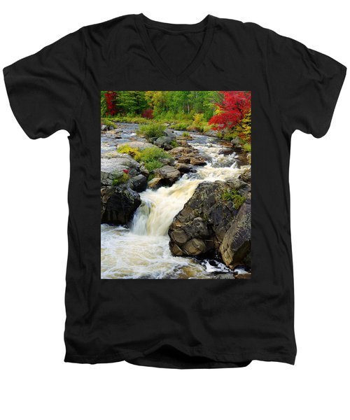 Hungary Trout Falls Men's V-Neck T-Shirt
